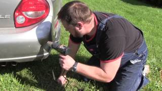 how to repair a dent in a car bumper easy life hack