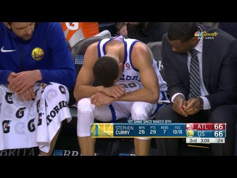 Stephen Curry MCL Injury | Hawks vs Warriors | March 23, 2018 | 2017-18 NBA Season