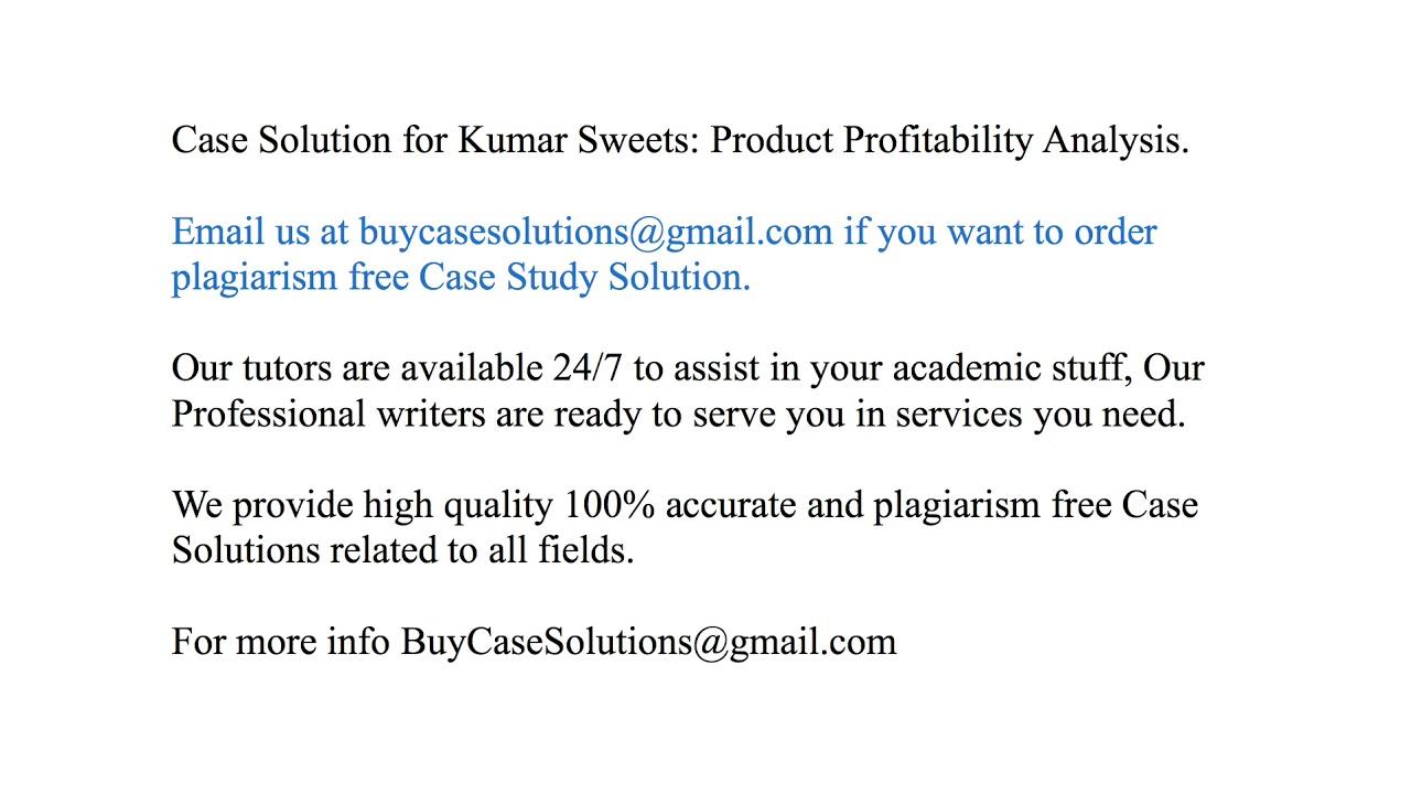 profitability analysis case study