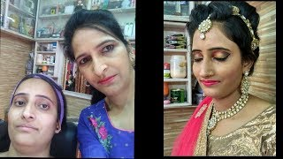 {How to do party makeup and##**new funky look hairstyle}##***