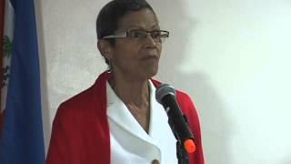 Florence Elie lors du lancement du projet « Accès à la justice pour les mineurs et les femmes »
