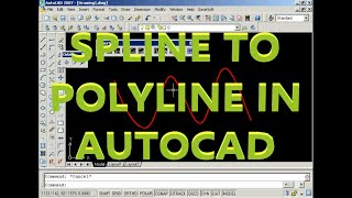 Convert Spline to Polyline of Arcs or 3D-Polyline of Segments in AutoCAD with InnerSoft CAD 2.6
