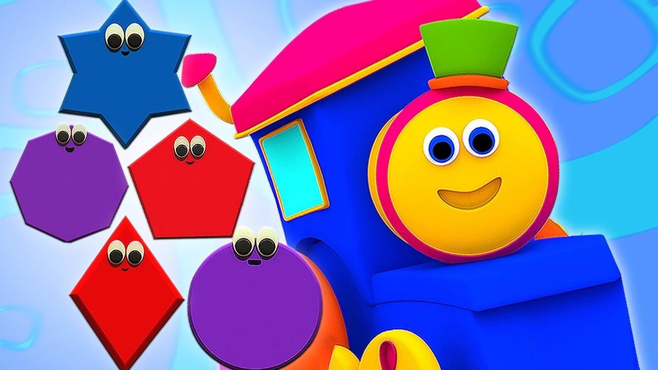 Bob Kereta Api | Bentuk Kereta | Bentuk Untuk Anak | Bob Shapes Train For Kids | Kids Tv Indonesia