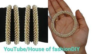 How To Make Stone Bangles At Home|| Pearl Chain Bangles||Silk Thread Bangles..