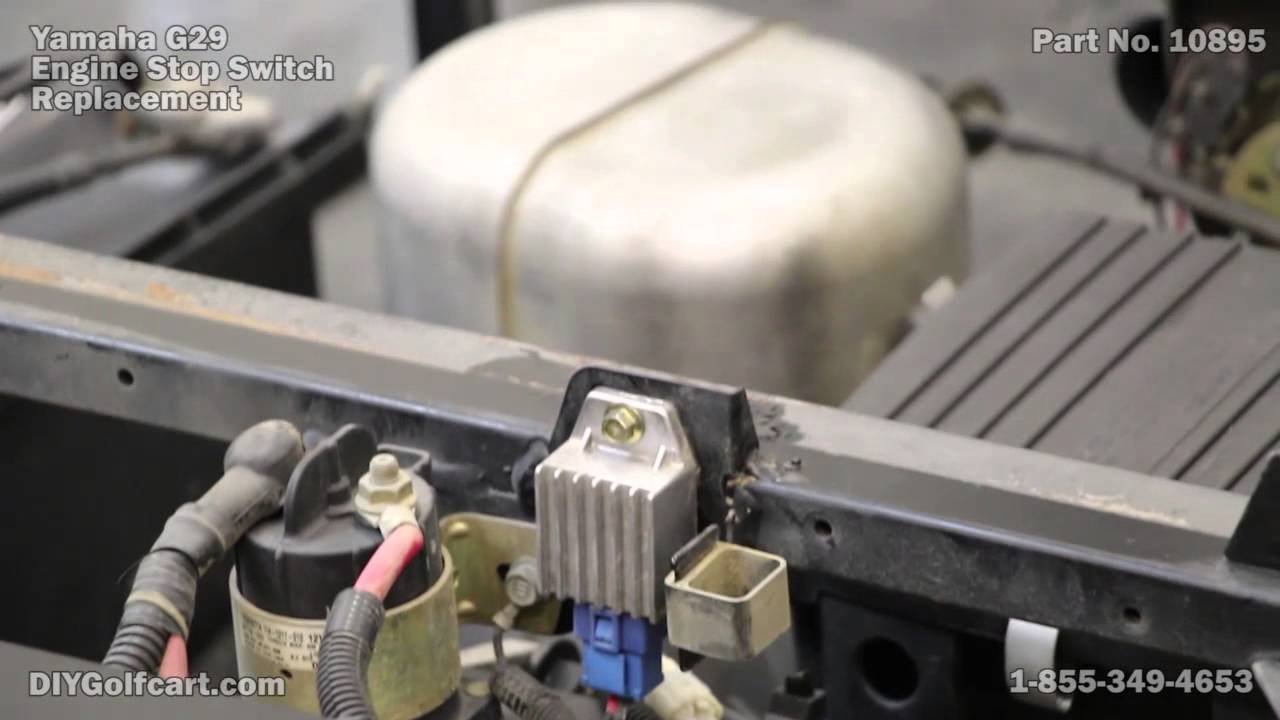 yamaha ignition relay stop switch | g16 | g19 | g22 | g29 drive golf cart -  youtube