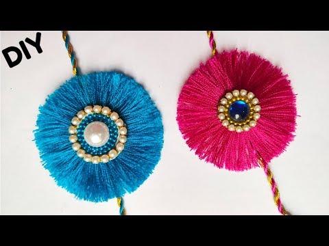 How to make Beautiful Rakhi at home/ DIY Silk Thread Rakhi Making  Ideas For Rakshabandhan.