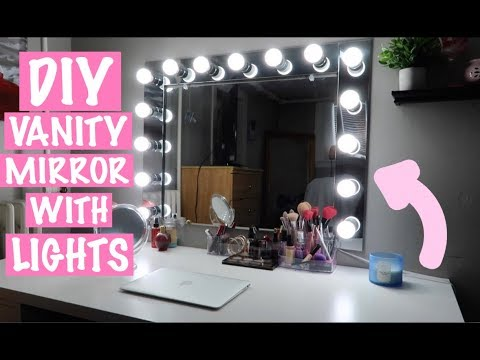 EASY DIY VANITY MIRROR WITH LIGHTS