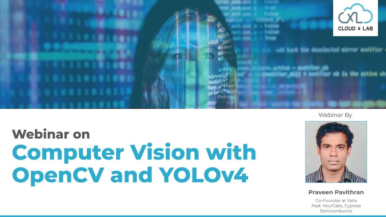 Free Webinar on Computer Vision with OpenCV and Yolov4