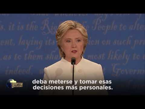 Hillary Clinton defiende a Planned Parenthood y el aborto en debate presidencial