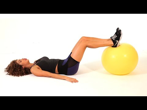 How to Do a Hip Lift on Exercise Ball | Sexy Butt