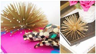 Gold Diy  Urchin Decor