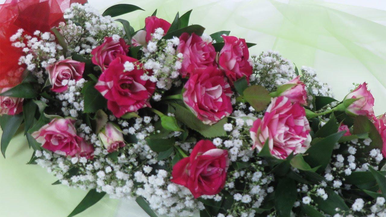 Floristik Anleitung Blumengirlande binden Deko Ideen mit