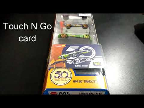 Hot Wheels Touch N Go Card 50th Anniversary Special