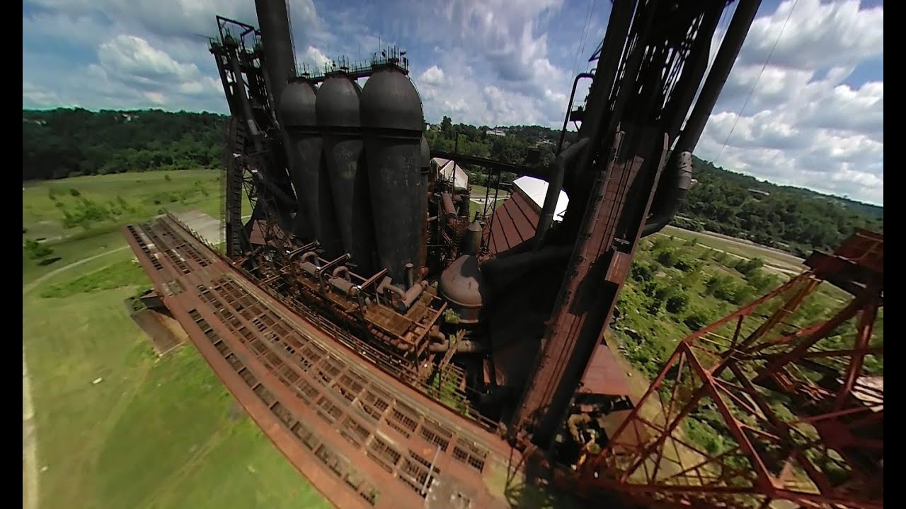 An aerial tour of Carrie Furnace in Pittsburgh PA - YouTube