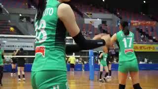 始まる直前のばたばた Volleyball Japan