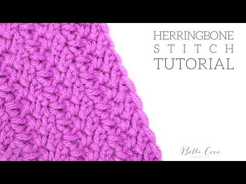 CROCHET: Herringbone Stitch | Bella Coco