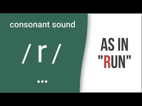 "Consonant Sound / r / as in ""run""- American English Pronunciation"
