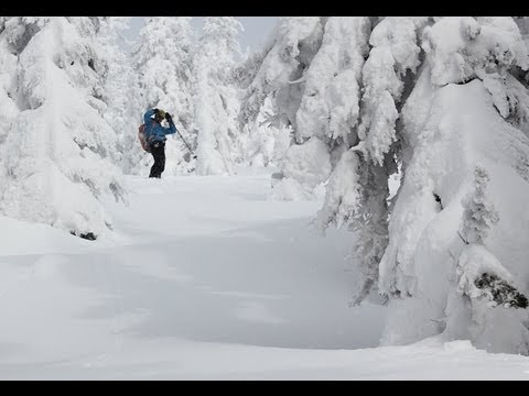 Backcountry Skiing Evening Ridge at Whitewater Ski Resort