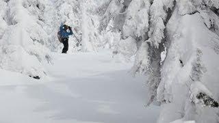 Backcountry Skiing Evening Ridge at Whitewater Ski Resort