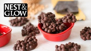 No Music 2-Ingredient Protein Candy Recipe - Chickpea and Chocolate Clusters