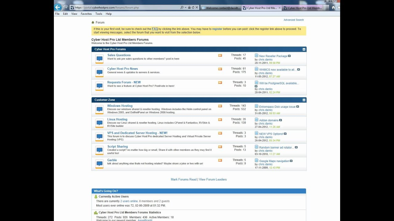 CyberHostPro Forums: for great sales and technical support - YouTube