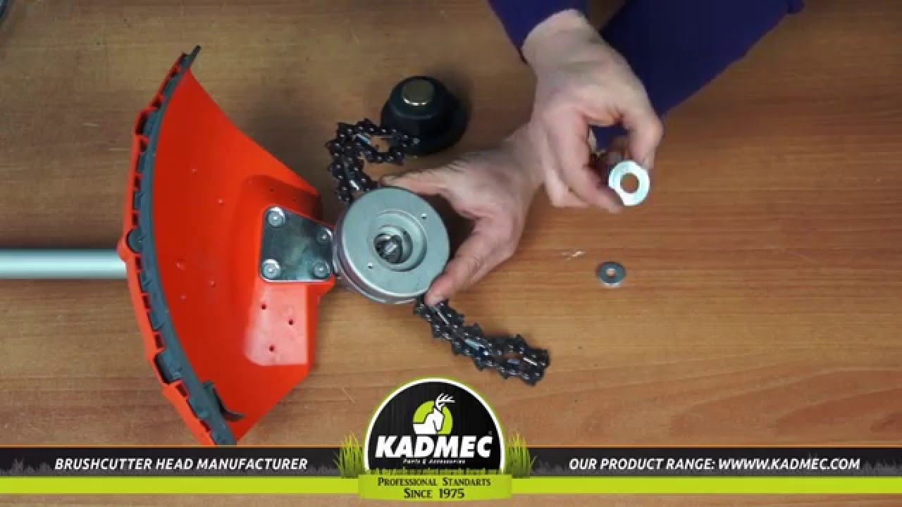 KADMEC MONSTER BRUSH CUTTER TRIMMER HEAD OVERVIEW - YouTube