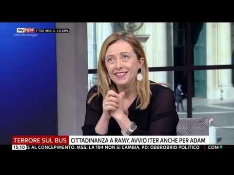Giorgia Meloni in diretta su Sky Tg 24! Non perdetelo!
