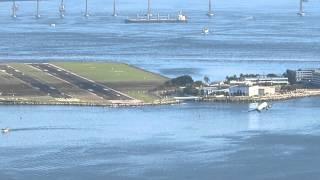 Azul Embraer landing at Santos Dumont Airport
