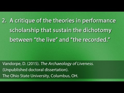 """""""Liveness"""" in Performance Scholarship"""