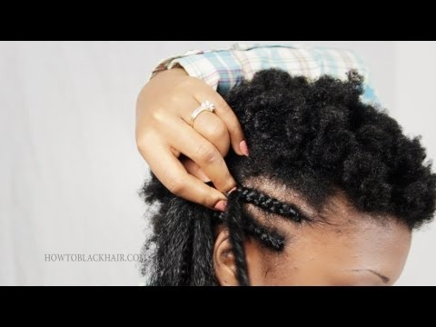 Tutorial: How to Part and French Braid Your Natural 4c Hair