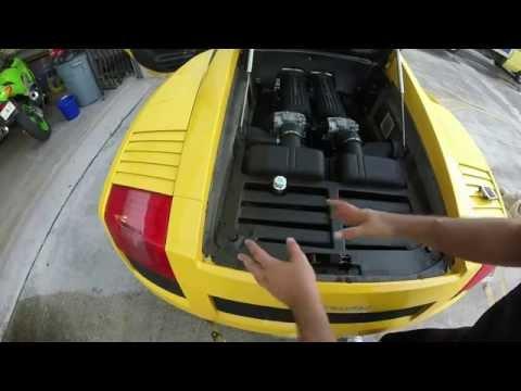 Lamborghini Gallardo Air Filter Replacement