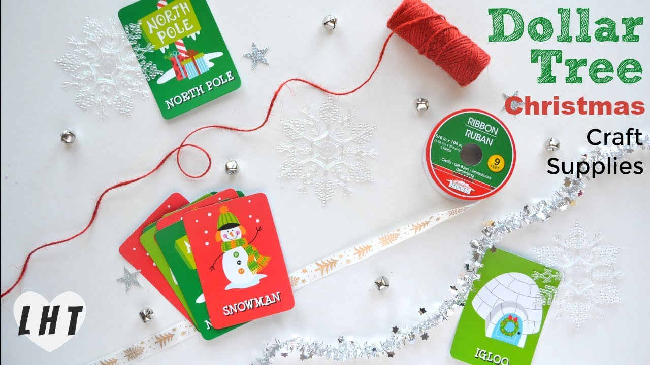 Lovely Craft Supplies Christmas Part - 10: DOLLAR TREE Shop With Me CHRISTMAS 2017 - Christmas Craft Supplies Haul -  Little Hot Tamale