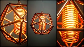 Steampunk DIY Industrial Pipe Geometric Lamp #5