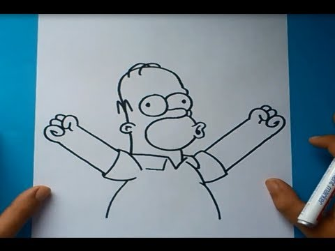 Como Dibujar A Homer Simpson Paso A Paso  Los Simpsons How To Draw Homer Simpson