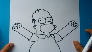 Como dibujar a Homer Simpson paso a paso 2 - Los Simpsons | How to draw Homer Simpson 2