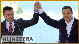 🇲🇰 🇬🇷 Macedonia signs agreement with Greece to changing country's name | Al Jazeera English