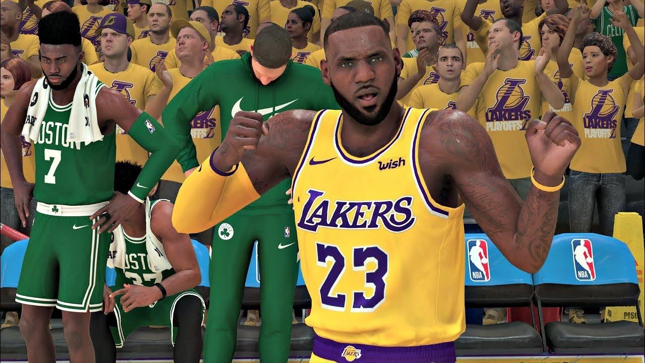 NBA 2K20 Gameplay - Los Angeles Lakers vs Boston Celtics Game 7 ...