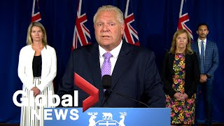 Coronavirus: Doug Ford, Stephen Lecce address class sizes as schools plan to reopen | FULL