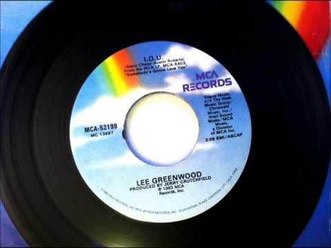 I. O. U., Lee GreenWood , 1983 Vinyl 45RPM