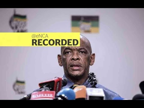 ANC Secretary General Ace Magashule speaks to eNCA