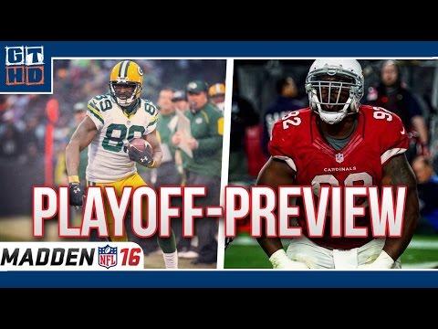 NFL Playoff Preview - Green Bay Packers vs. Arizona Cardinals [Madden NFL 16/Deutsch]