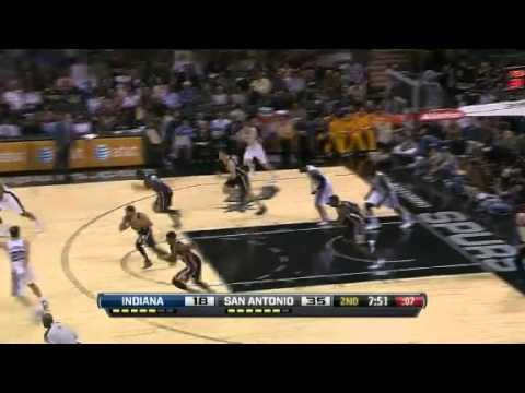 Mahinmi Blocks Jackson | Indiana Pacers Vs San Antonio Spurs | 11/05/2012 | NBA Season 2012-13