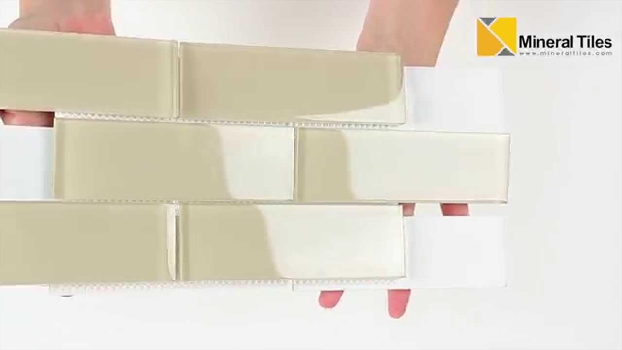 Glass Subway Tile Ivory 2x6 120anaelemear26 Youtube