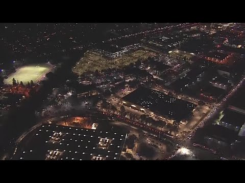 Raw Video: Chopper 5 Over Facebook Headquarters Amid Bomb Threat