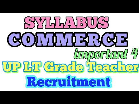 Commerce Syllabus UP LT Grade teacher recruitment