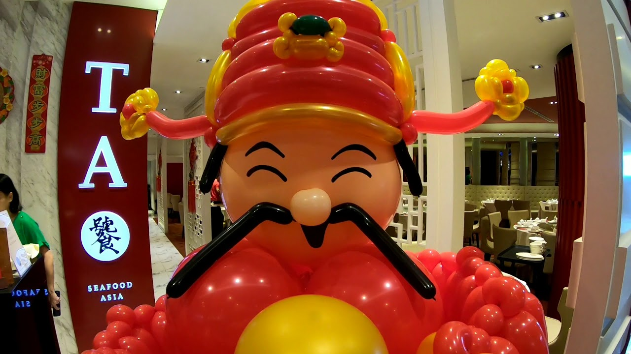 Chinese New year balloon decorations! - life size Cai Shen ...