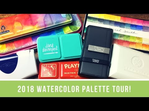 My 2018 Watercolor Palette Tour | What Works for Me, What Doesn't, and What Might Work for You