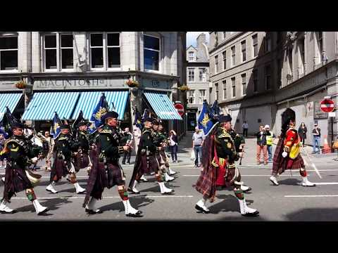 Homecoming parade of the 4 Scots Battalion, 1st July 2014, Aberdeen