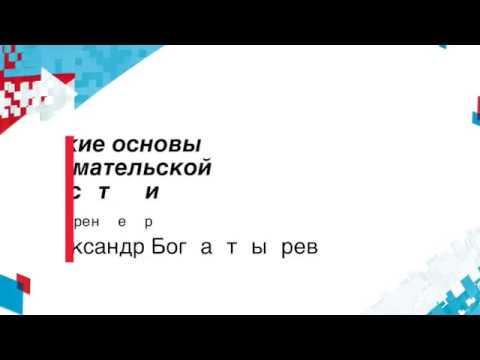 Юридические основы предпринимательской деятельности. Александр Богатырев