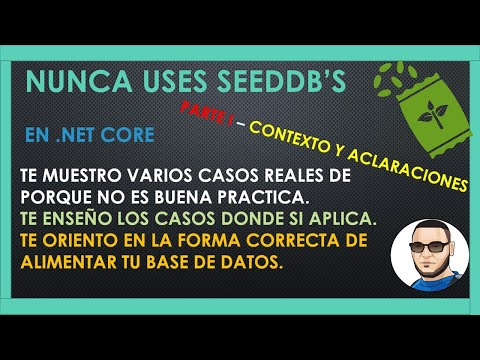 SEED vs MIGRATION... NUNCA Usen SeedDb Para Alimentar Data de Produccion...